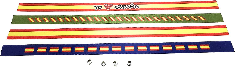 Pulseras de tela con la bandera ESPAÑOLA en pack de 4 unidades ...