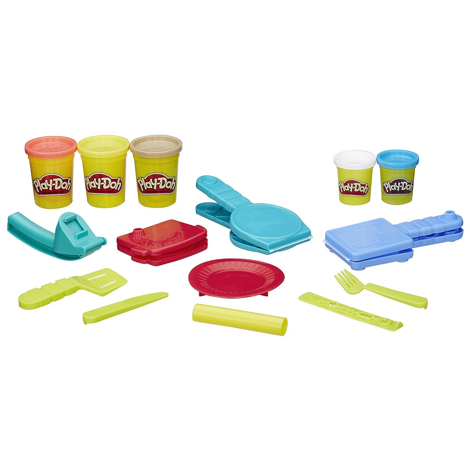 Play-Doh Rainbow Starter Pack Bundle PD Play-Doh Breakfast Time Playset