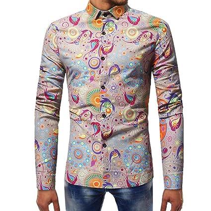 Blusa de Hombre, Polo de Hombre, Camisetas de Hombre, BaZhaHei, Mangas largas Estampadas Camisetas de Manga Larga Estampada de Hombre Blusa Impresa para ...