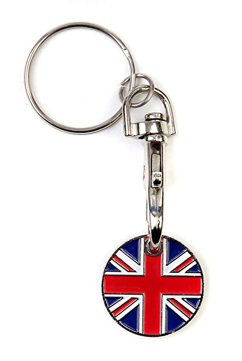 Trolley Token Keyring Metal Unión Jack supermercado Carro ...
