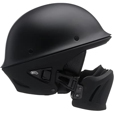 Bell Rogue Half-Size Motorcycle Helmet (Solid Matte Black, Large): Automotive