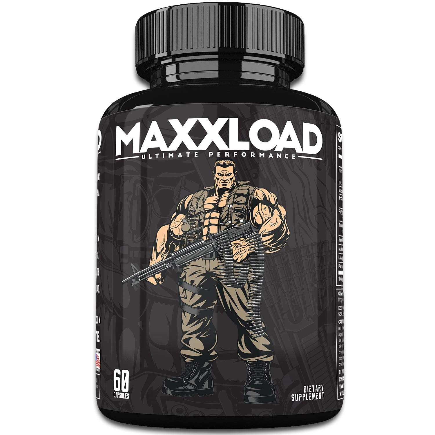 MAXXLOAD Ultimate Male Pills (60 Capsules) Enlargement Booster for Men - Increase Energy, Mood, Size & Endurance - All Natural Performance Enhancing Supplement - 1 Month Supply by Osyris Nutrition Lab