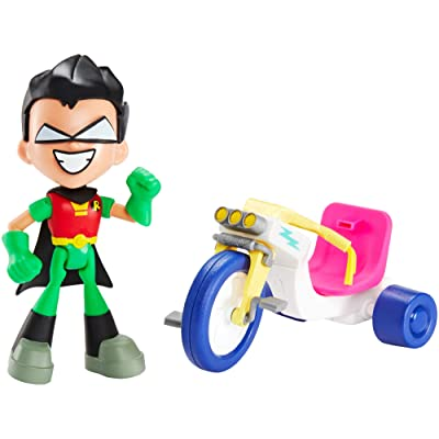 DC Comics Teen Titans Go! to The Movies Robin & Time Cycle Figure & Vehicle: Toys & Games