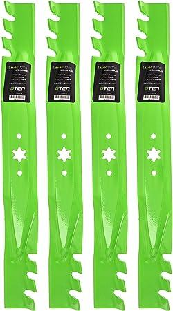 Amazon Com 8ten Lawnrazor Blade For Cub Cadet Mtd Troy Bilt 942 04308 X Ltx1040 Rzt L42 Mustang Xp Toothed 42 Inch Cut Deck 4 Pack Garden Outdoor