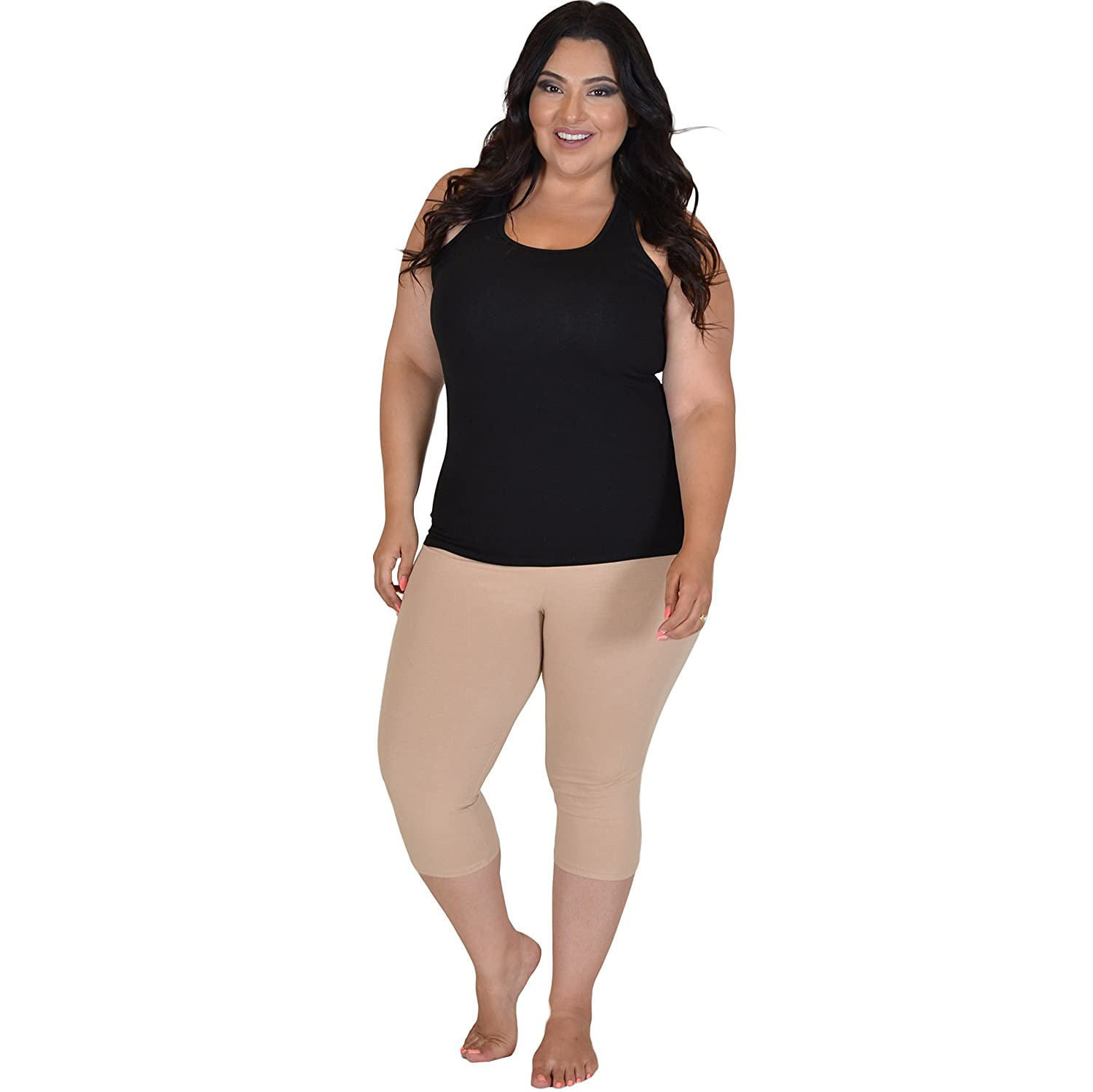 2aaed776ade Stretch is Comfort Women s Teamwear Plus Size Black Racerback Tank Top at Amazon  Women s Clothing store