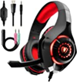 Gaming Headset for PC PS4, Beexcellent Stereo Surround Sound Gaming Headphones with Noise Cancelling Microphone Volume…