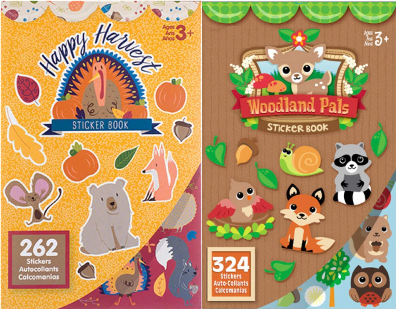 Fall Harvest Sticker Books- 586 Stickers toyco