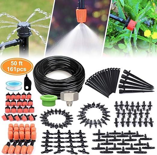 Landrip Sistema de riego de jardín Micro Drip, Kit de riego de ...