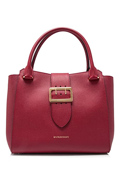63c94939b2f7 Burberry Women s The Medium Buckle Tote in Grainy Red  Amazon.ca  Shoes    Handbags
