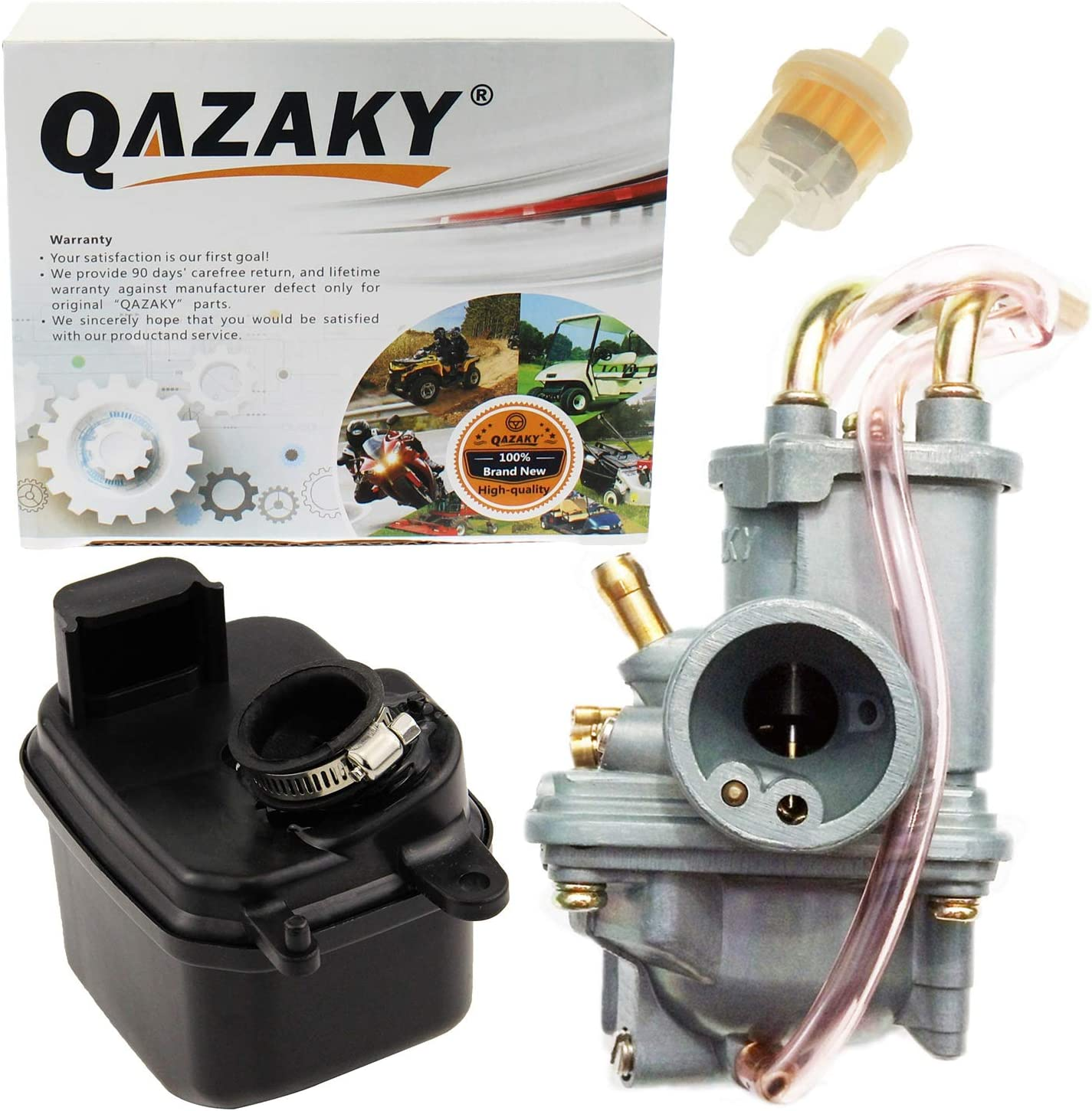 QAZAKY Air Filter Cleaner Box Housing Assembly Replacement for Yamaha PW50 PY50 G50T Peewee PW 50 Y-Zinger Pit Bike Motorcycle