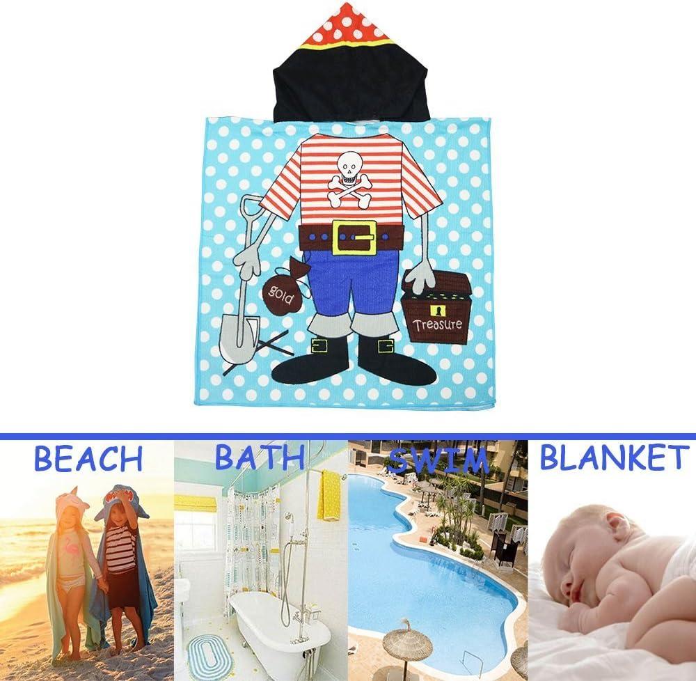 a forma di poncho e con il cappuccio Treasure asciugamano o telo mare per bambini SINBLUE di 61/cm di larghezza x 122 cm/di lunghezza; le mamme lo adorano