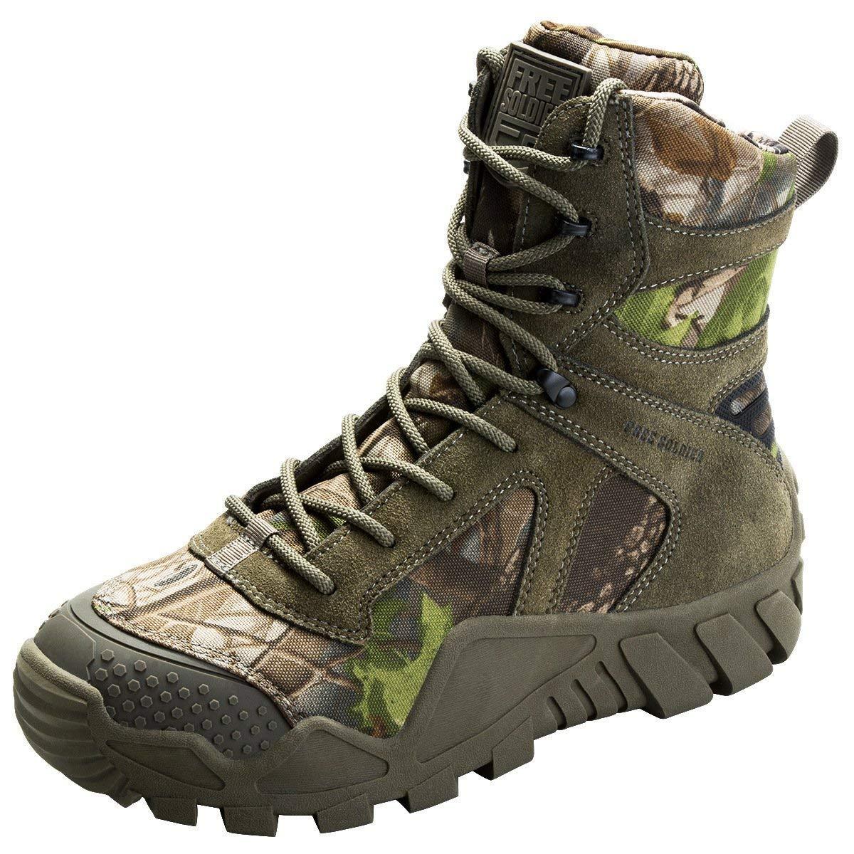 TALLA 39 EU. FREE SOLDIER Hombres Militares High-Top Zapatos táctico Senderismo Botas Cordones Trabajo Combate Todos los terrenos Botas Resistente al Agua 3 Colores