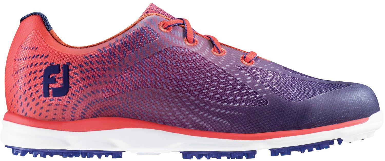 FootJoy Empower Spikeless Golf Shoes Closeout Women Navy/Papaya Medium 9