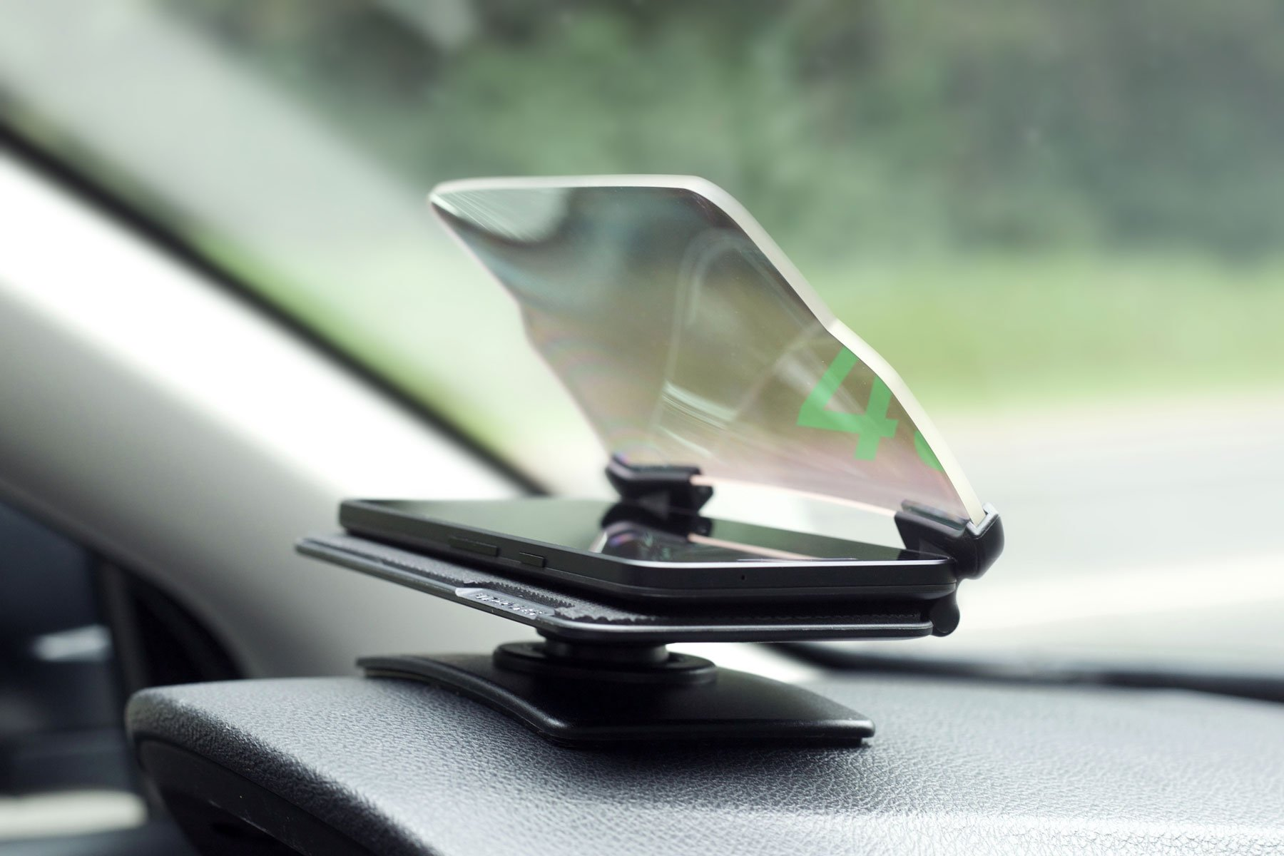 HUDWAY Glass - Universal Head-Up Display (HUD) for GPS Navigation for Any Car. Smartphone Apps Included.