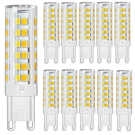 Paquete de 10 - Bombillas LED G9 7W Super Bright 450LM (Equivalente a lámpara halógena