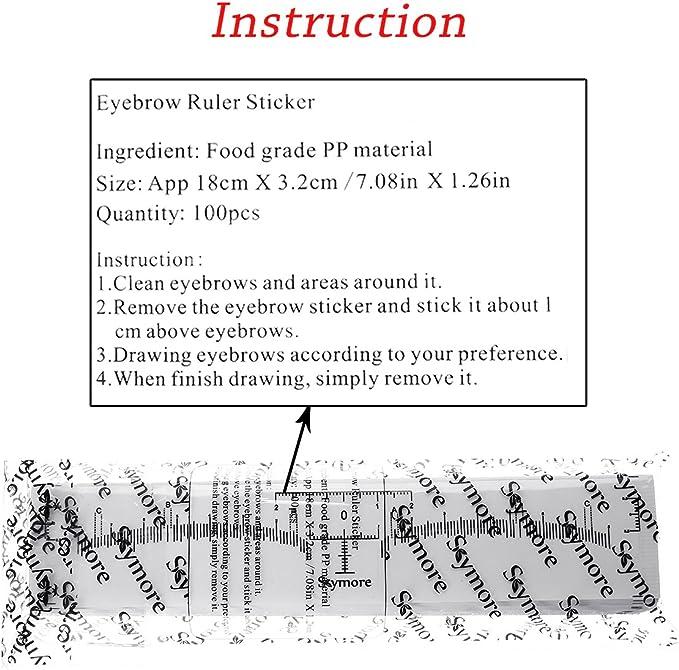 Skymore – Regla para cejas, 100 unidades, desechable, regla para ...