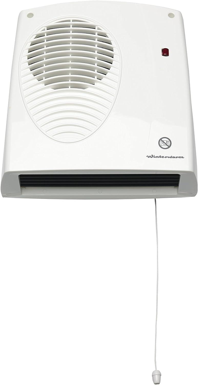 Winterwarm WWDF20N - Ventilador calefactor (clasificación IPX2, 2000W), color blanco