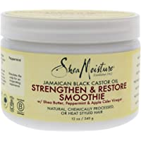 Shea Moisture Jamaican Black Castor Oil Strengthen and Restore Smoothie Cream by Shea Moisture for Unisex - 12 oz C, 340 g
