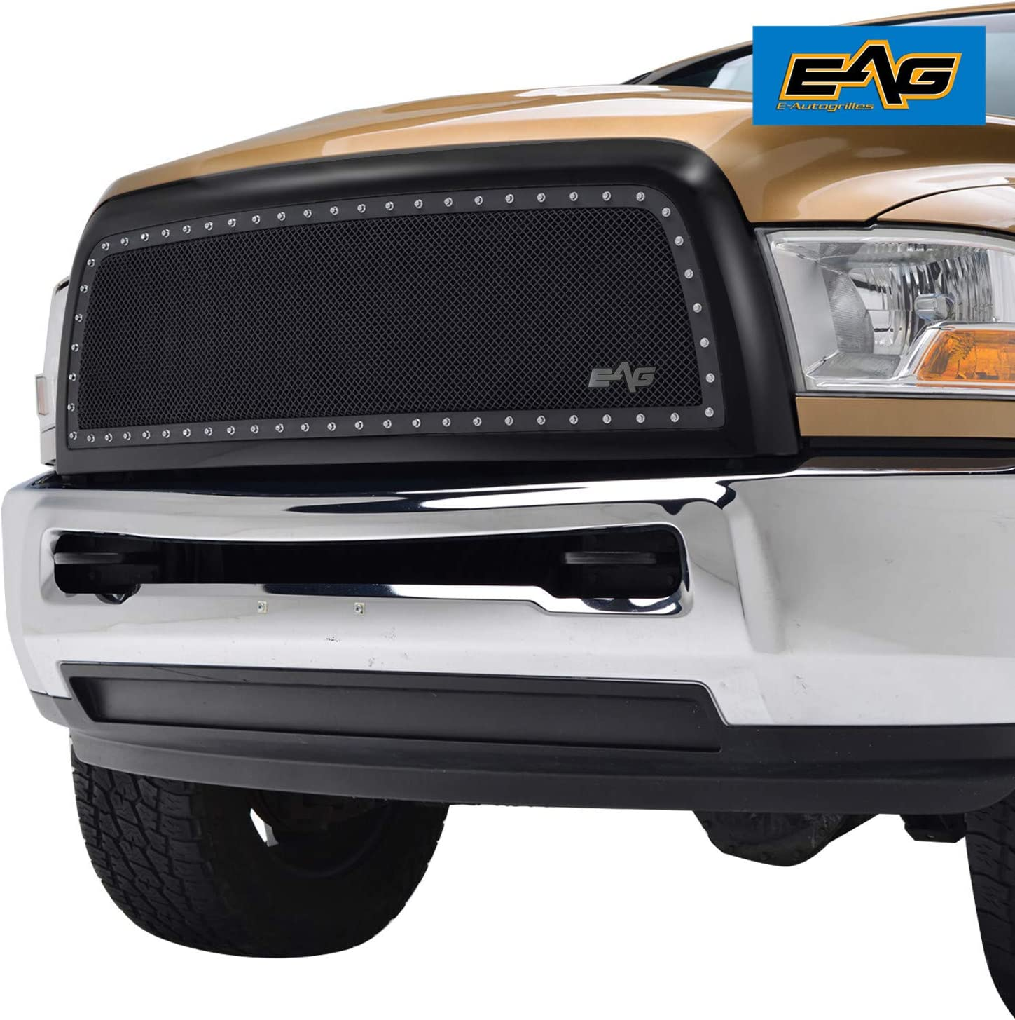 10-12 Dodge RAM 2500+3500+HD Black Billet Grille+Replacement+Chrome Shell