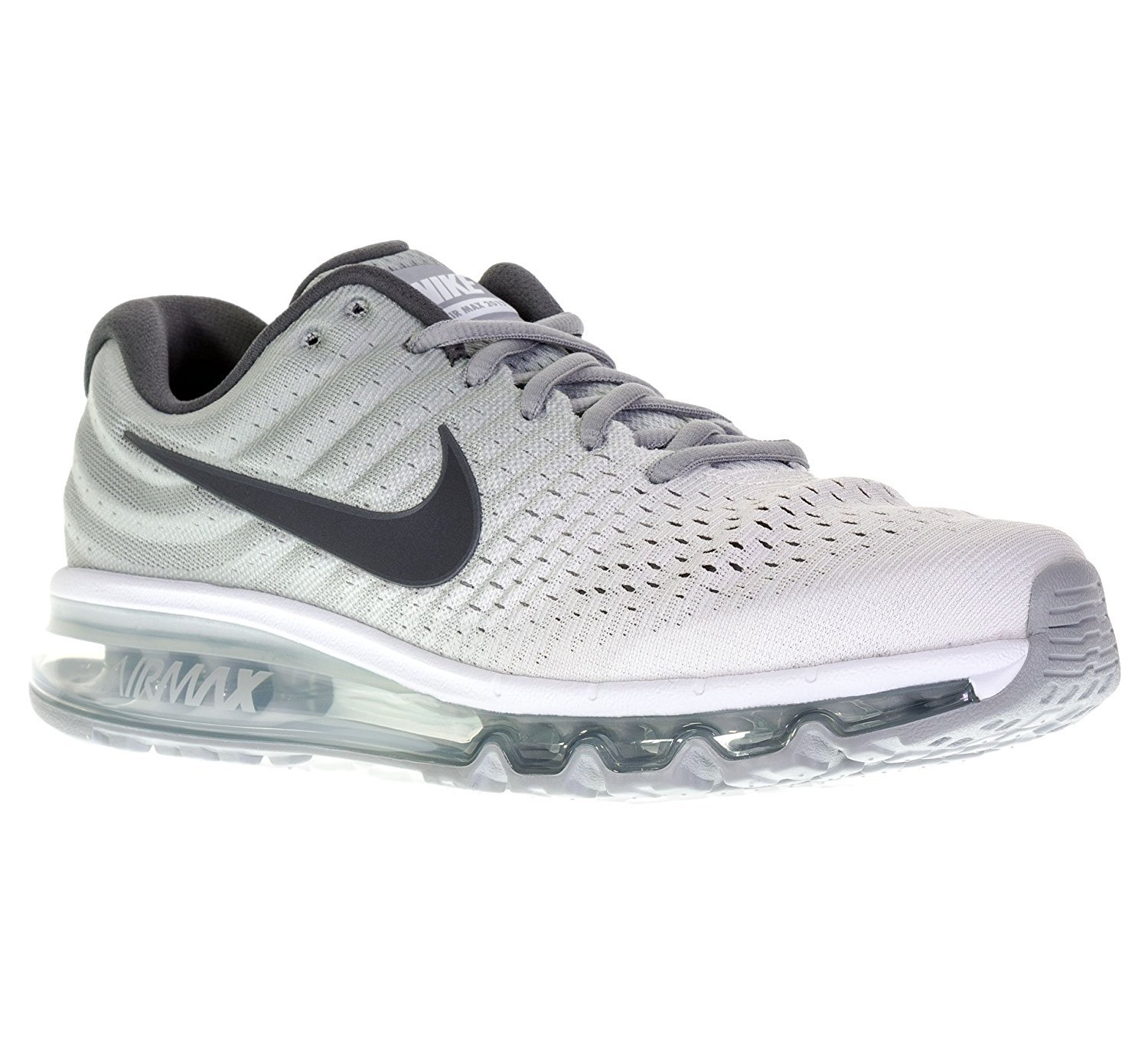 Nike Men's Air Max 2017, White/Dark Grey-Wolf Grey, Size 11