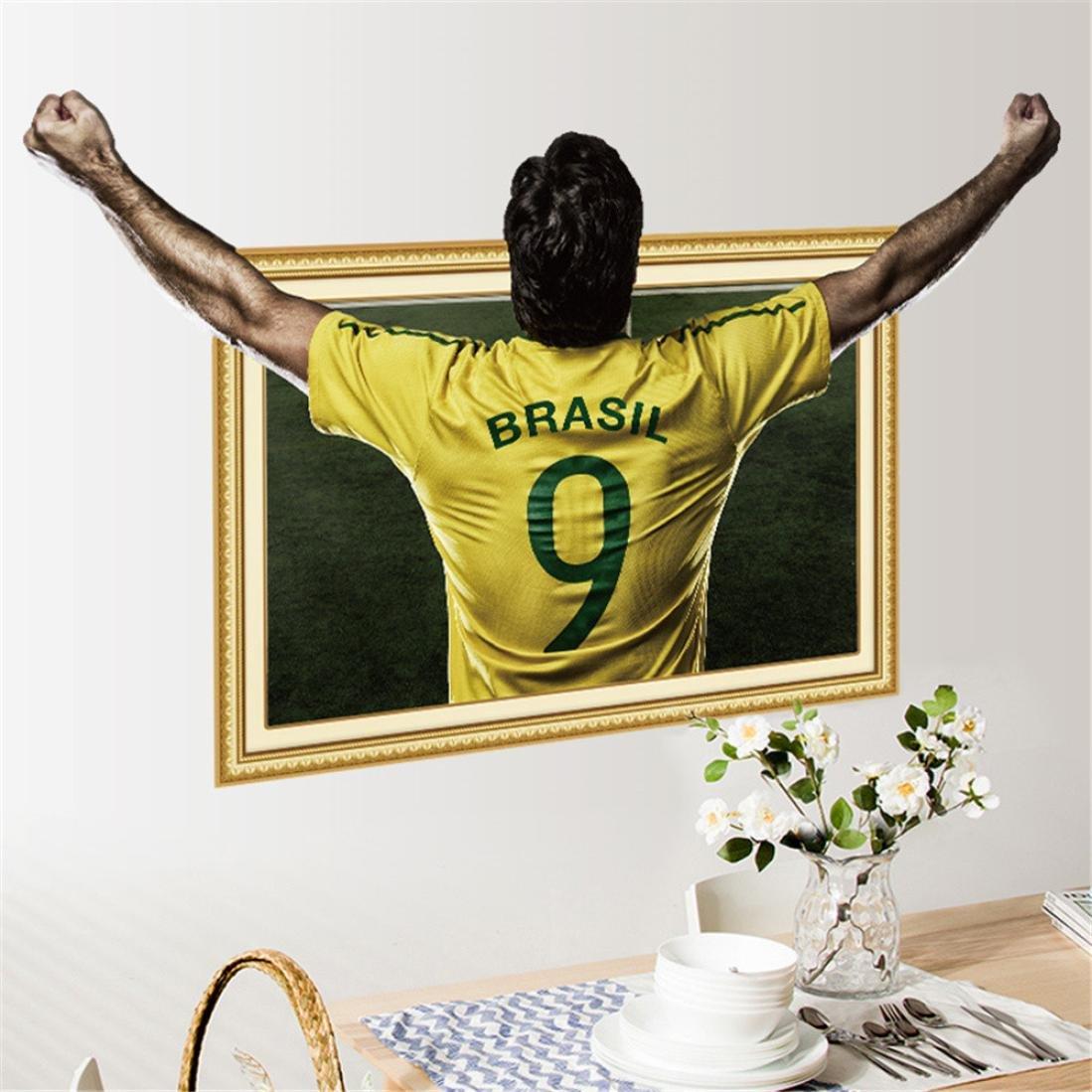Amazon.com: YJYDADA Wall Sticker, DIY Play Football House Removable ...