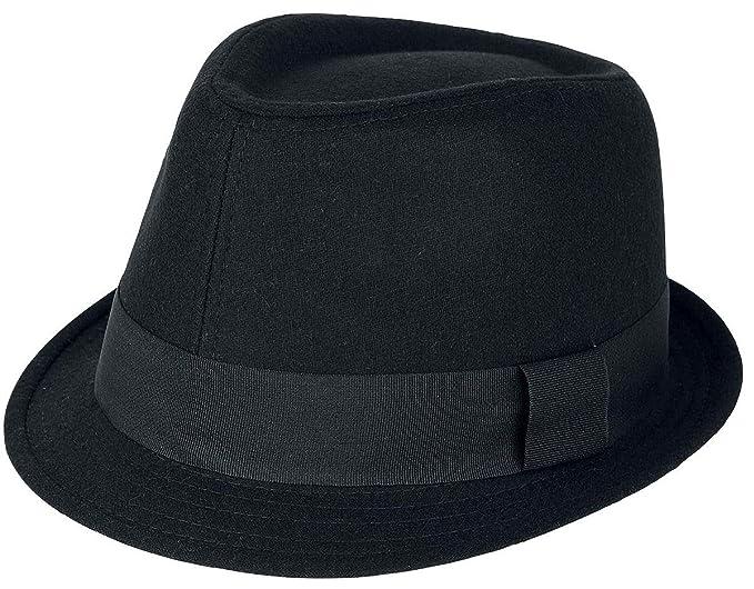 Brim Hat Sombrero Borsalino Sombrero Negro S-M  Amazon.es  Ropa y accesorios 27f4a2e2663
