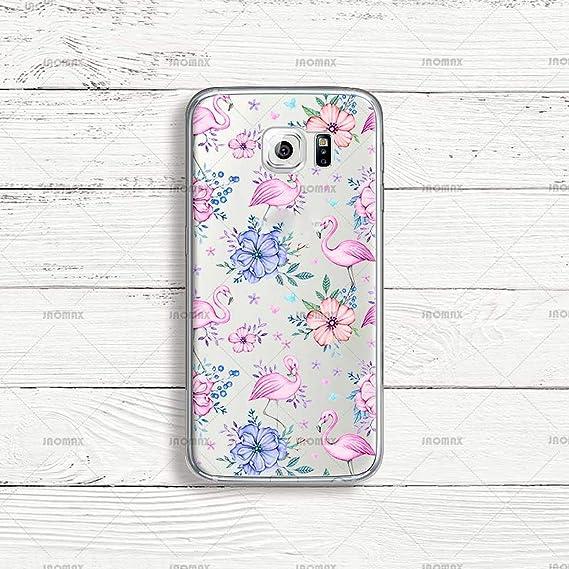 Amazon.com: Cute Bird Flower Flamingo Phone Case for Samsung ...
