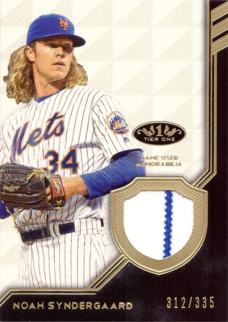 Only 335 made! 2018 Topps Tier One Relics #T1R-NS Noah Syndergaard Game Worn Mets Jersey Baseball Card