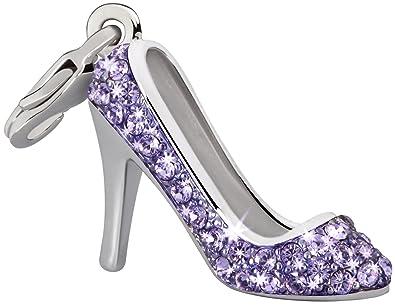 0d728e999fd Glamour World Kette und Charm Pumps mit Swarovski-Kristallen violett ...