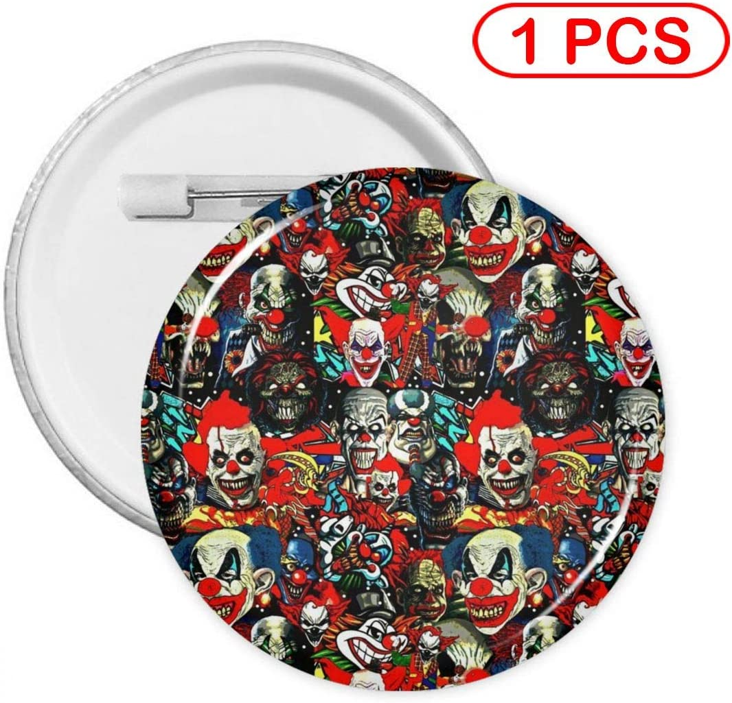 YXXZ Clowns The Bad Boys Round Badge Brooches and Pins Accessories Multiple Packs
