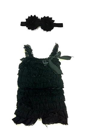 ca13ca276d7 Rush Dance Baby Toddler Girls Layered Lace Ruffle Petti Romper   Headband  Set (Small
