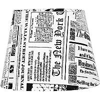 Cúpula de Abajur Tecido Jornal 20x16cm