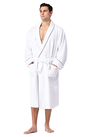 e2d4ac15f629b Fishers Finery Men's EcoFabric Resort Terry Robe; Full Length (S/M ...