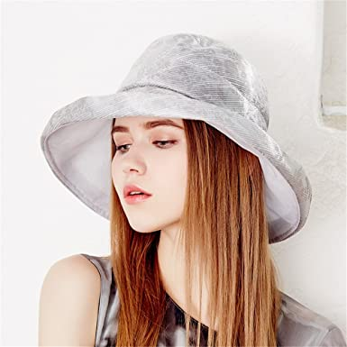 a9d7bbc162a Kenmont Women Summer Beach Sun Hat UV Protection Breathe Outdoor Research Bucket  Cap With Fold-