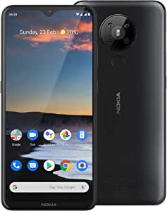 """Nokia 5.3 Android One Smartphone (Official Australian Version 2020) Unlocked Mobile Phone with Quad Camera, Large 6.55"""" Screen, 2-Day Battery, European Design and Dual SIM, 64GB, Charcoal"""