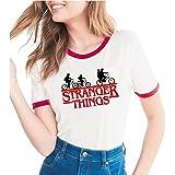 Beles Womens Stranger Things Print T Shirt Short Sleeve O-Neck Tops