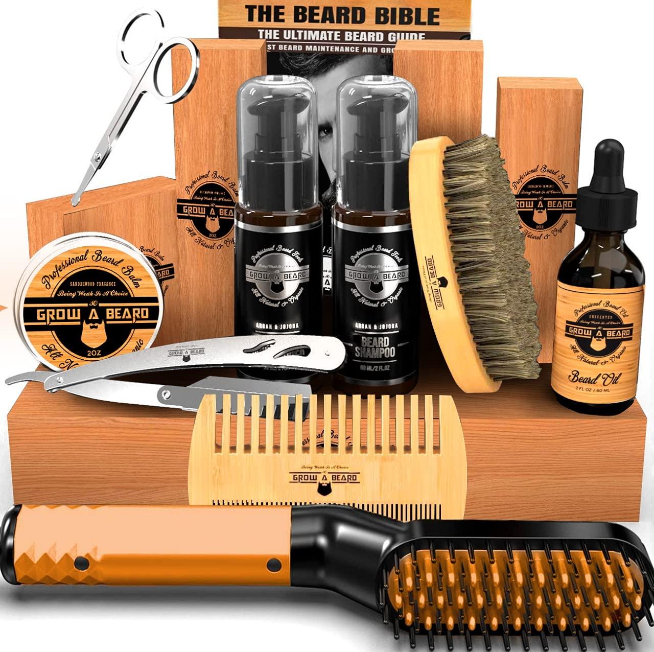 Beard Nashville-Davidson Mall Straightener Grooming Kit for Sid Bombing free shipping Double Men Brush