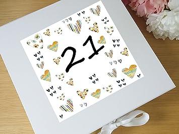 Erinnerungsschachtel Fur 21 Geburtstag 21 Geburtstag Geschenke 21