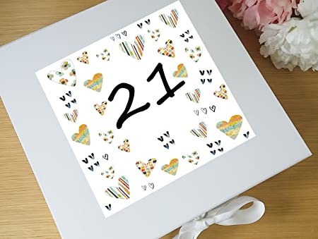 Tigerlilyprints 21st Birthday Keepsake Box 21 Gifts
