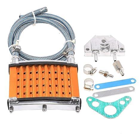 WPHMOTO Oil Cooler Cooling Radiator Hose Bolt Kit for Pit Dirt Bike 110cc 125cc 140cc 150cc Green