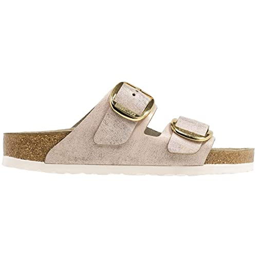 separation shoes 0309b 8b6fd Birkenstock Womens Arizona Big Buckle Suede Rose Gold ...
