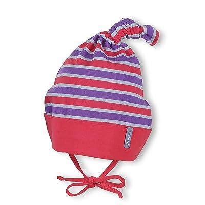 Sterntaler - Baby girl bonnet de laine chapeau pour faire des nœuds, rouge-violet