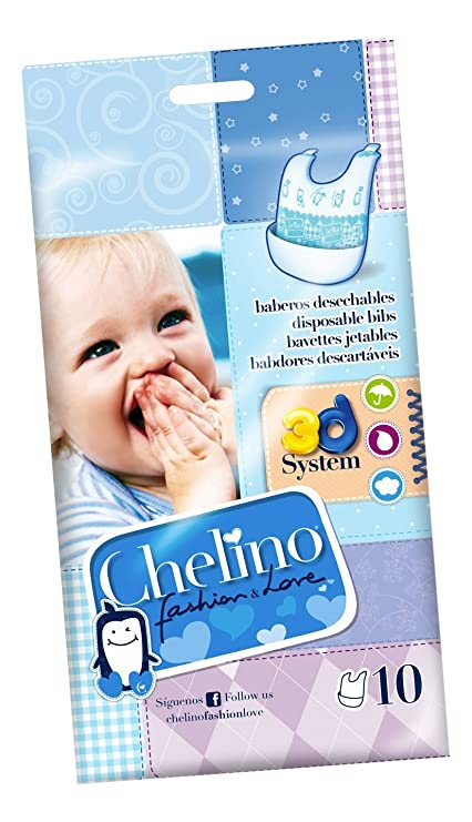 Chelino Fashion & Love Babero Desechable - 10 Baberos