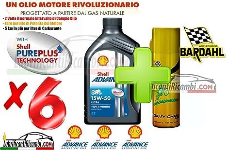 oferta Shell Advance Ultra 4T 15W50 100% fibra hueca.-6 litros Shell