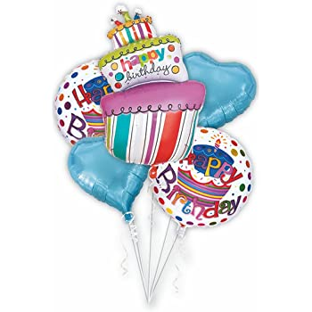 Mcolour Balloon Birthday Cake Balloons 5 Piece Combination 40 Inch Candles Party Decoration Foil