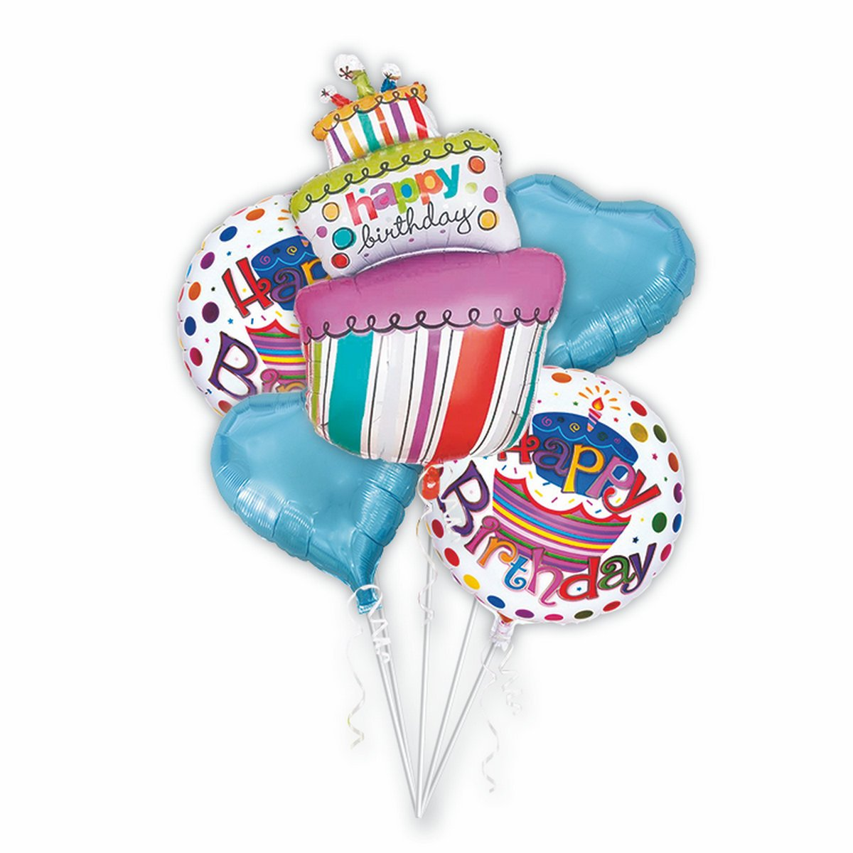 Amazon Mcolour Balloon Birthday Cake Balloons 5 Piece Combination 40 Inch Candles Party Decoration Foil Toys Games