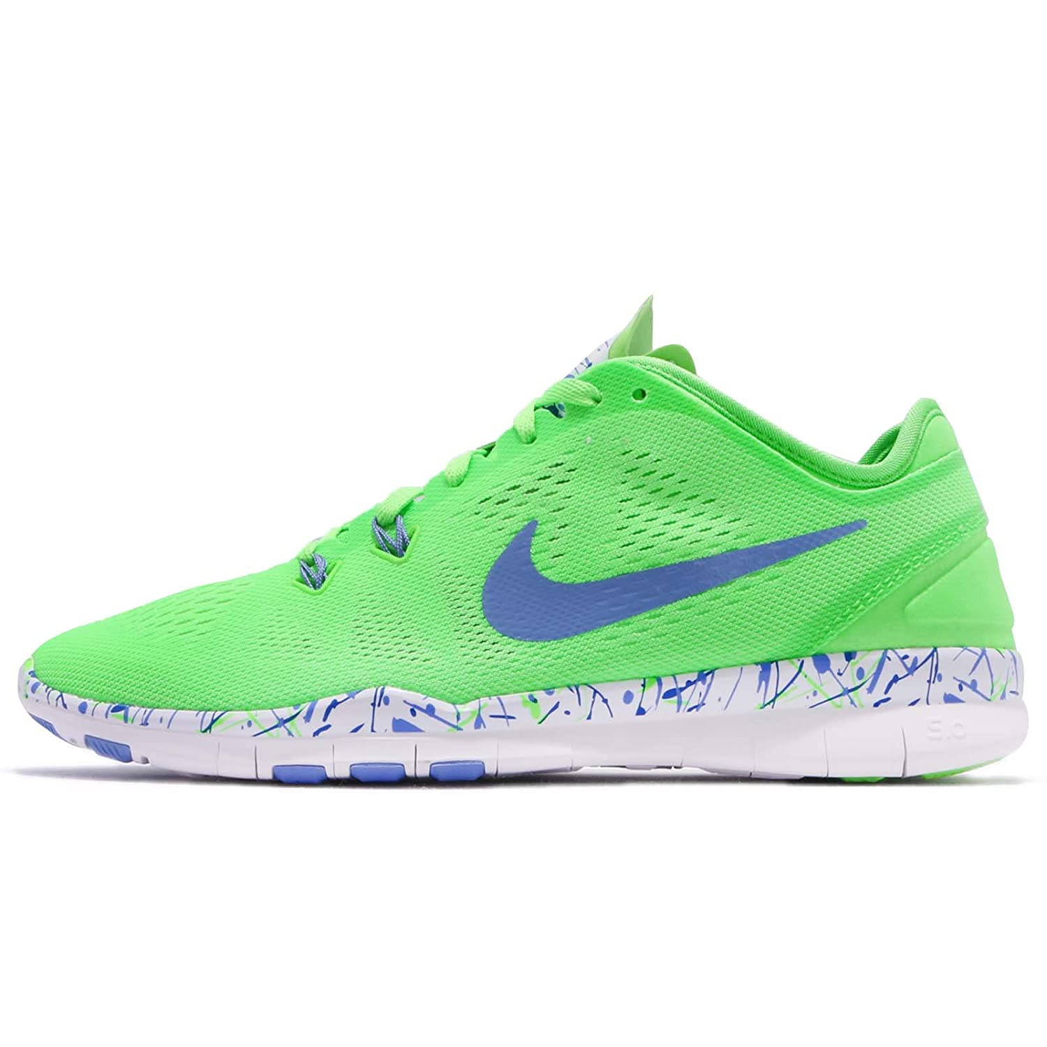 bd2a172d59a1 ... promo code for amazon nike womens free 5.0 tr fit training shoe print  voltage green white