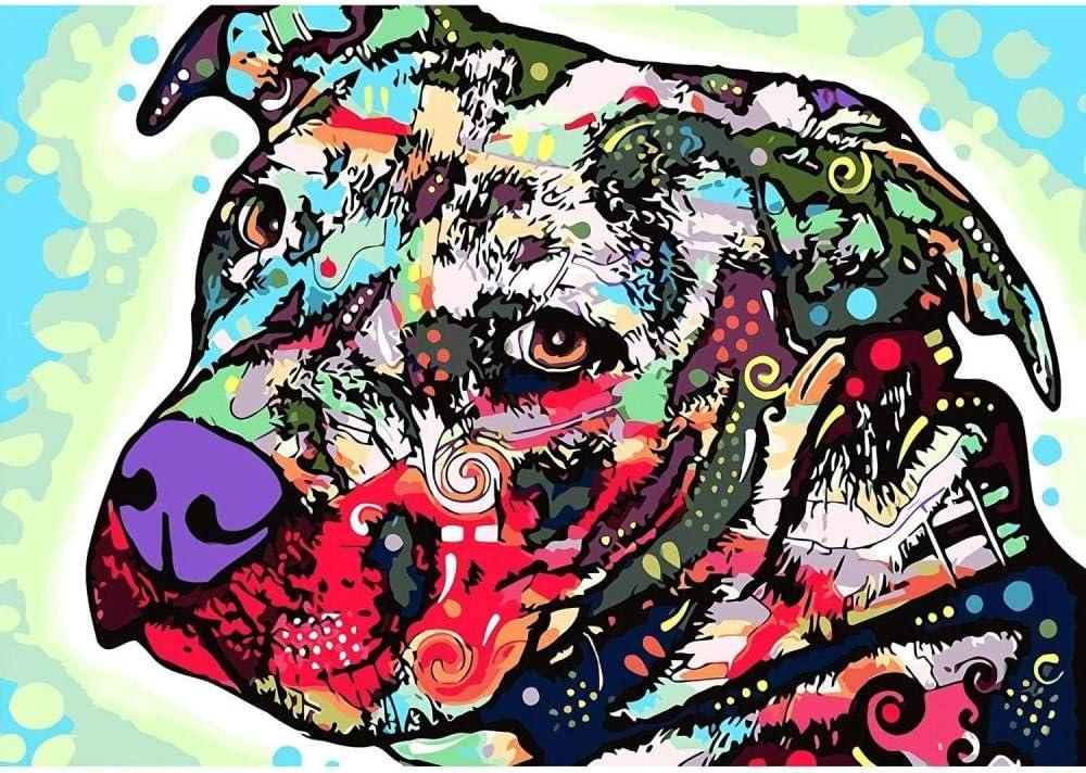 Rompecabezas de 1000 Piezas de Color Abstracto Perro Adulto Rompecabezas Kit de Bricolaje Rompecabezas de Madera Decoración Moderna para el hogar (LWEE620)