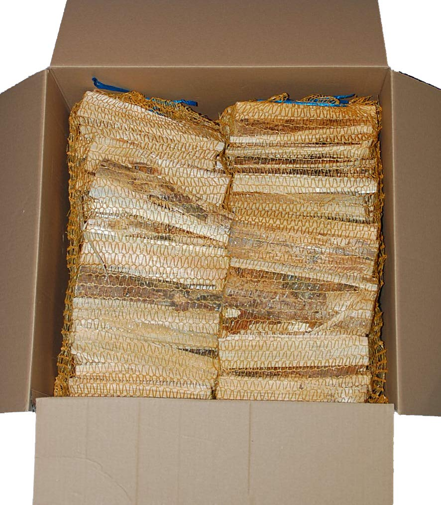 Anfeuerholz 4 Netze a 3 kg, Holzstü cke, trocken, sofort einsetzbar Landree Holzhof