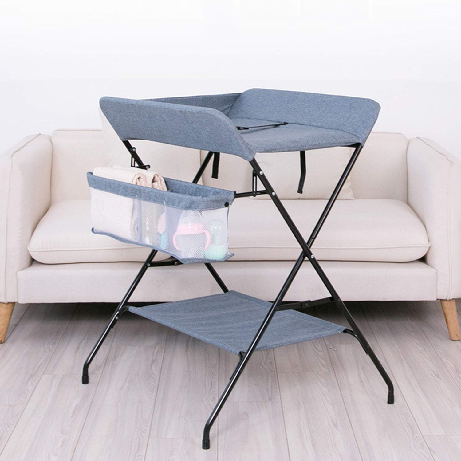 Massage Care Table,Touching Table WSXX Newborn Baby Changing Clothes Diaper Table Multi-Function Folding